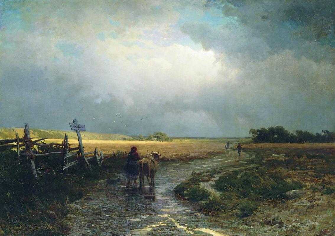 Fedor Vasilyev. After the rain. Road