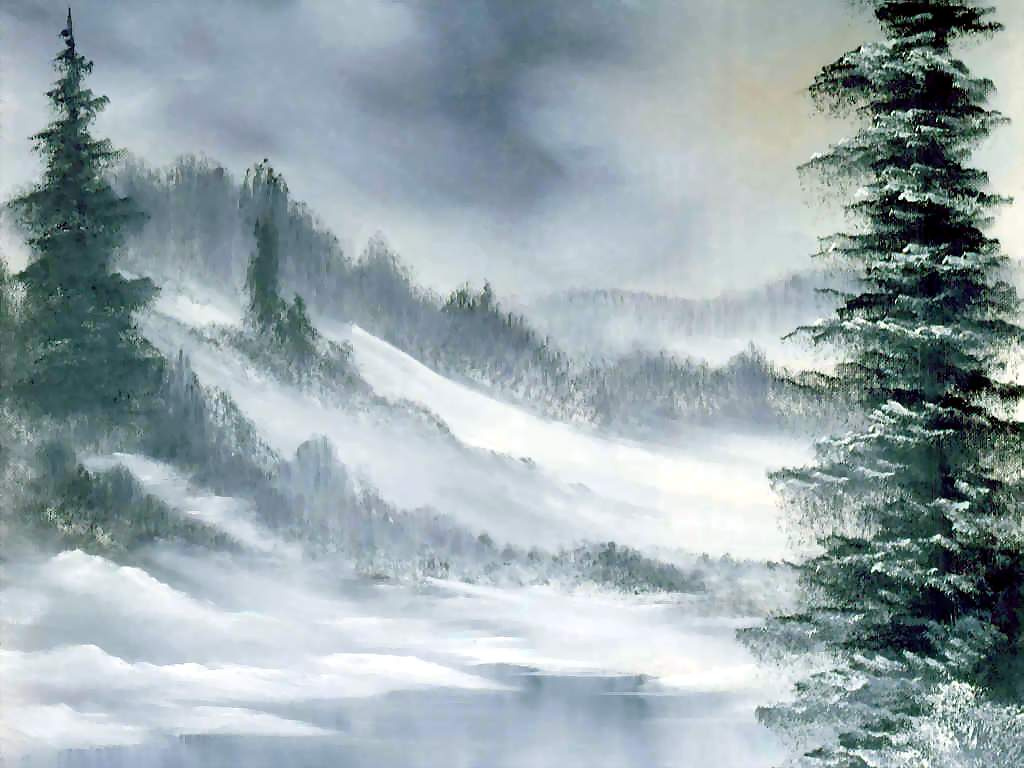 Bob Ross. Winter