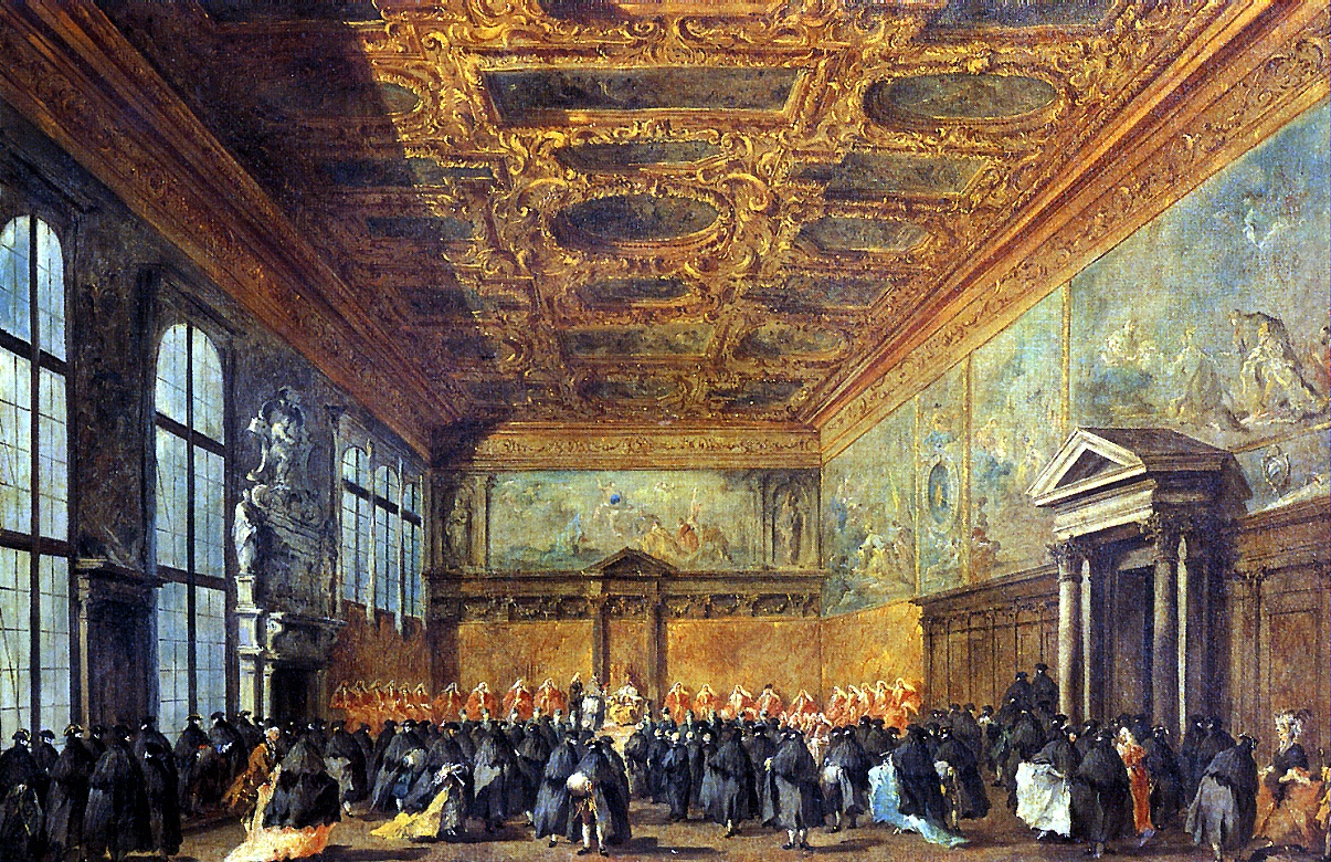 Франческо Гварди. Аудиенция дожа в Зале Совета во Дворце дожей