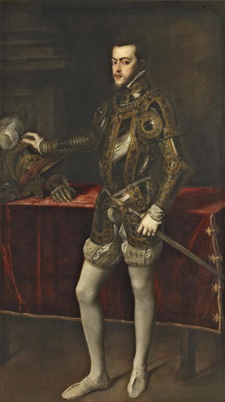 Тициан Вечеллио. Портрет Филиппа II в доспехах