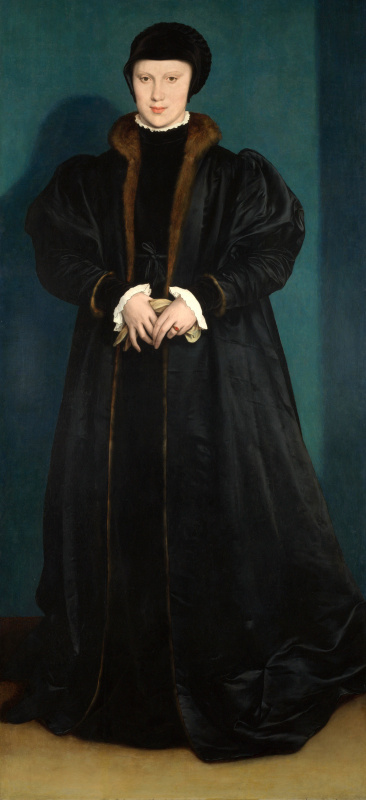 Hans Holbein the Younger. Christina of Denmark, Duchess of Milan