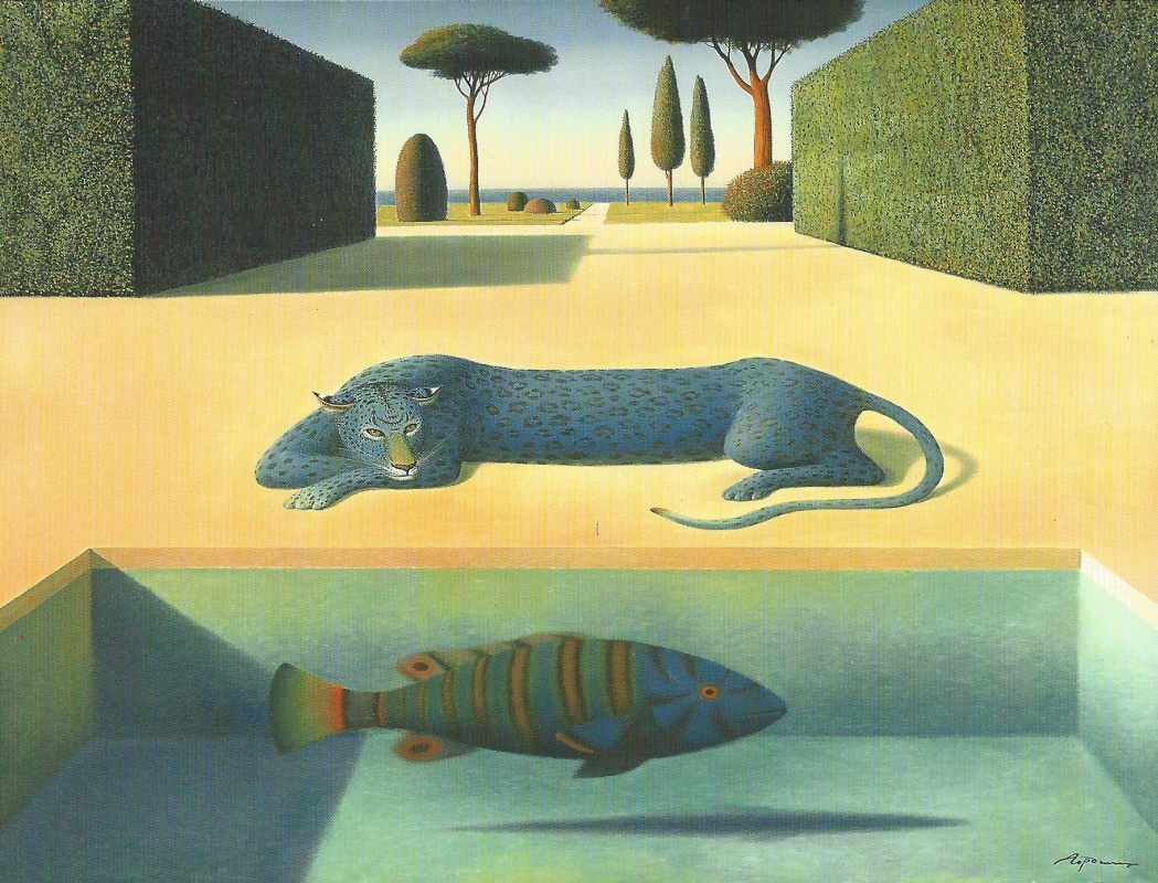 Evgeni (Евгений) Яковлевич Gordiets (Гордиец). Blue Leopard and Fish
