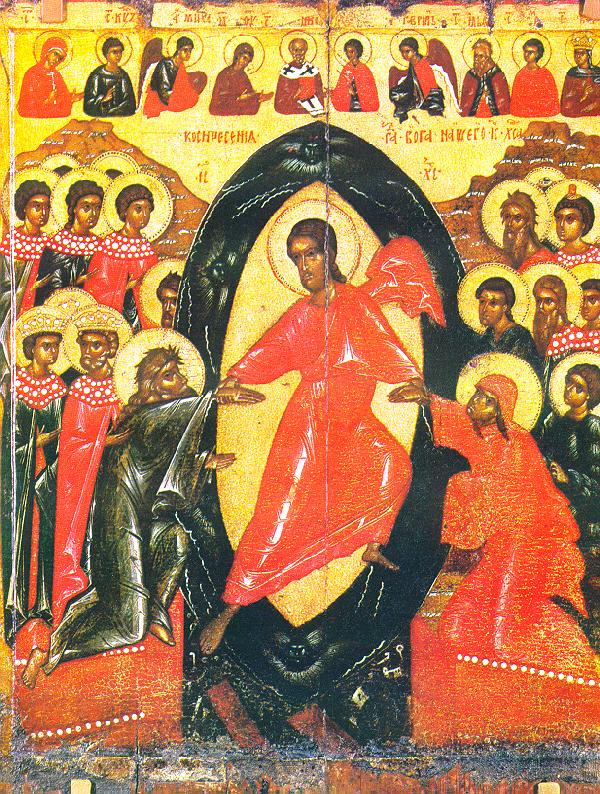 Icon Painting. The descent into hell