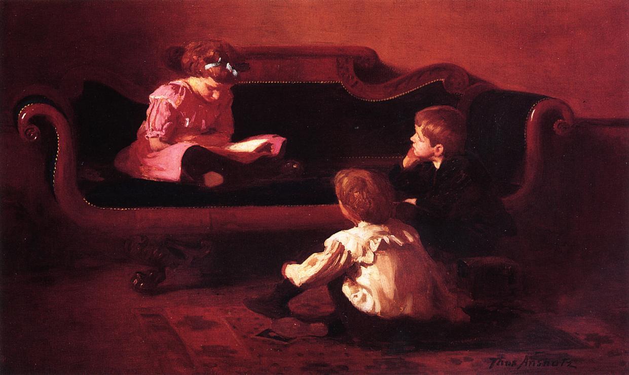Томас Поллок Аншутц. Дети читают