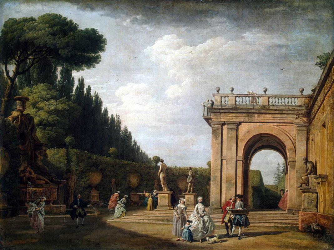 Клод Жозеф Верне. Вид в парке виллы Людовизи в Риме