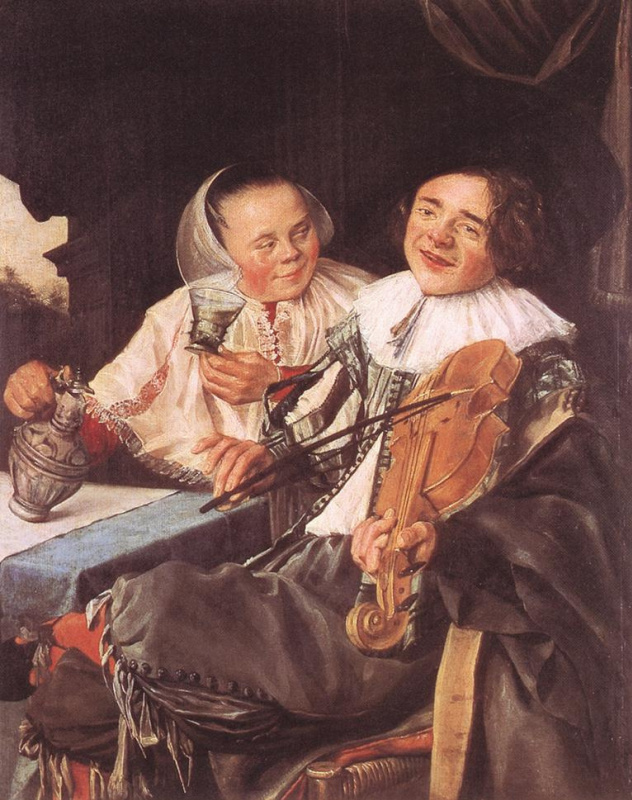 Judith Leyster. Feasting couple