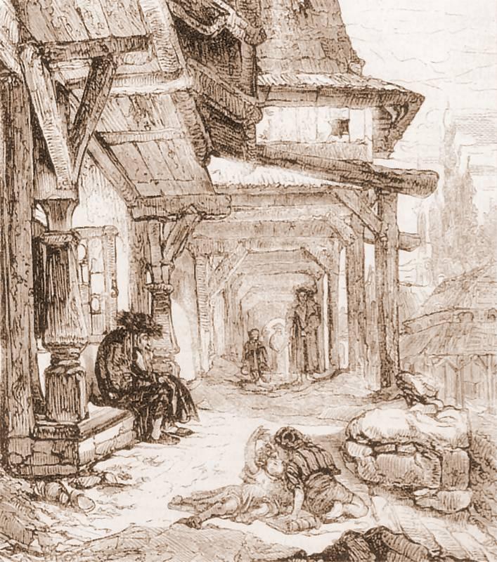 Ян Матейко. Деревянные дома в Вишниче