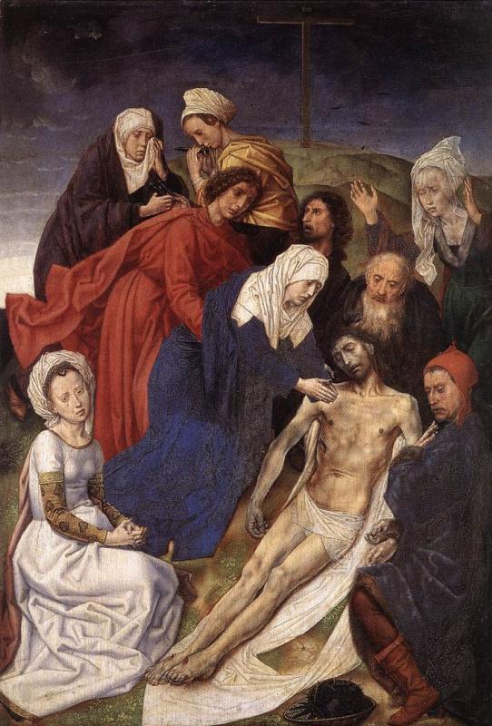 Ван Дер Гоес Гюго. Оплакивание Христа. Венский алтарь, правая створка