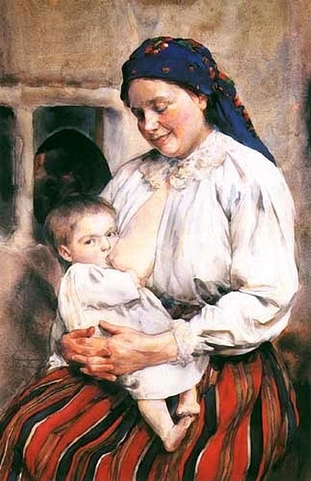 Alexander Avgustinovich (1865-1944) Poland. Motherhood
