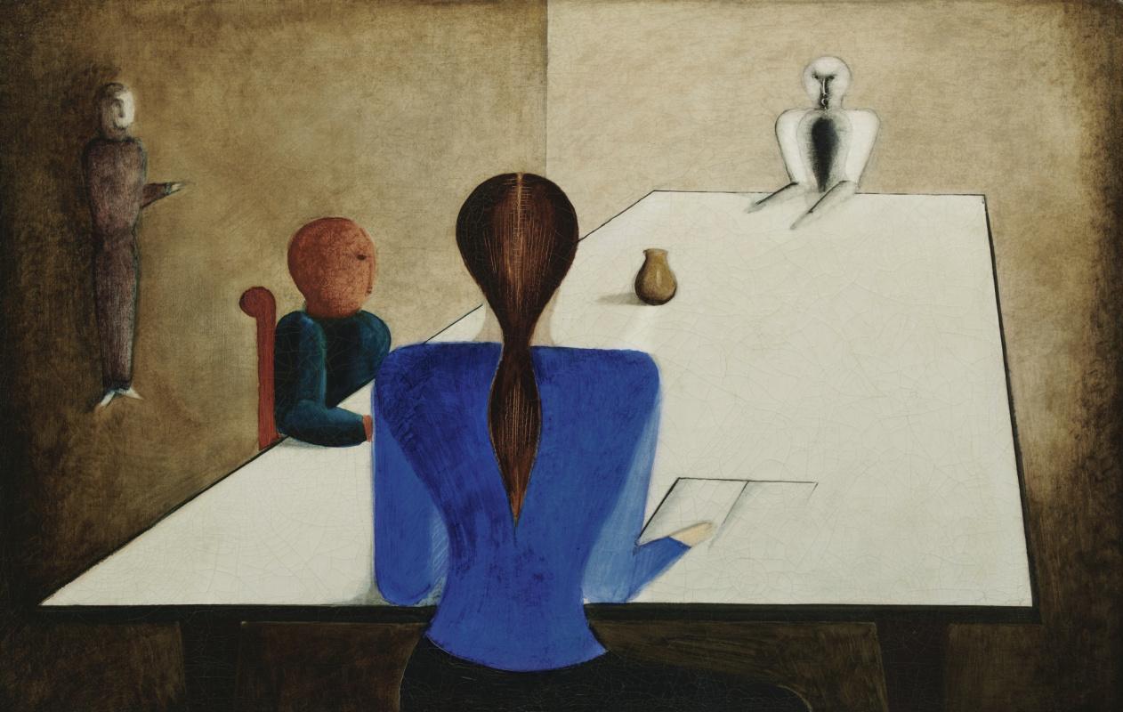 Оскар Шлеммер. Группа за столом