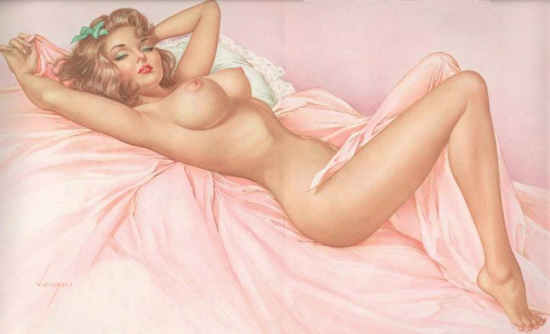 Pin up girl nude pussy
