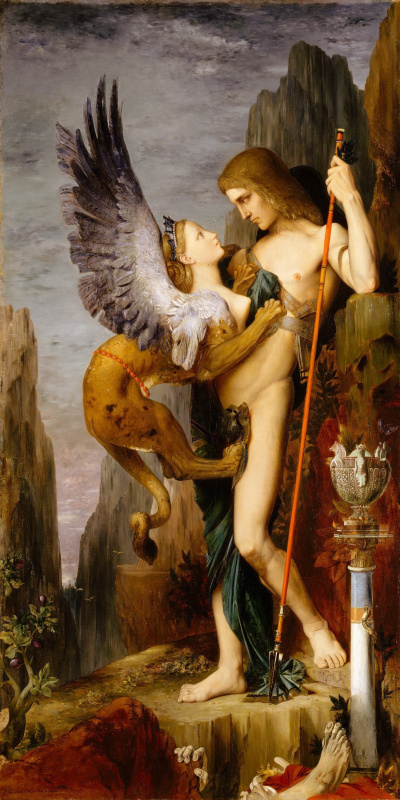 Gustave Moreau. Oedipus and Sphinx