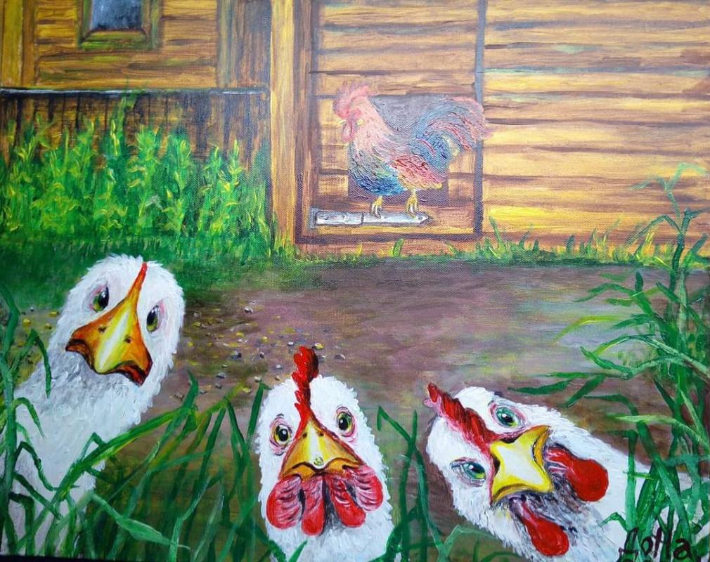 Natalia Anatolyevna Leisure. Curious chickens