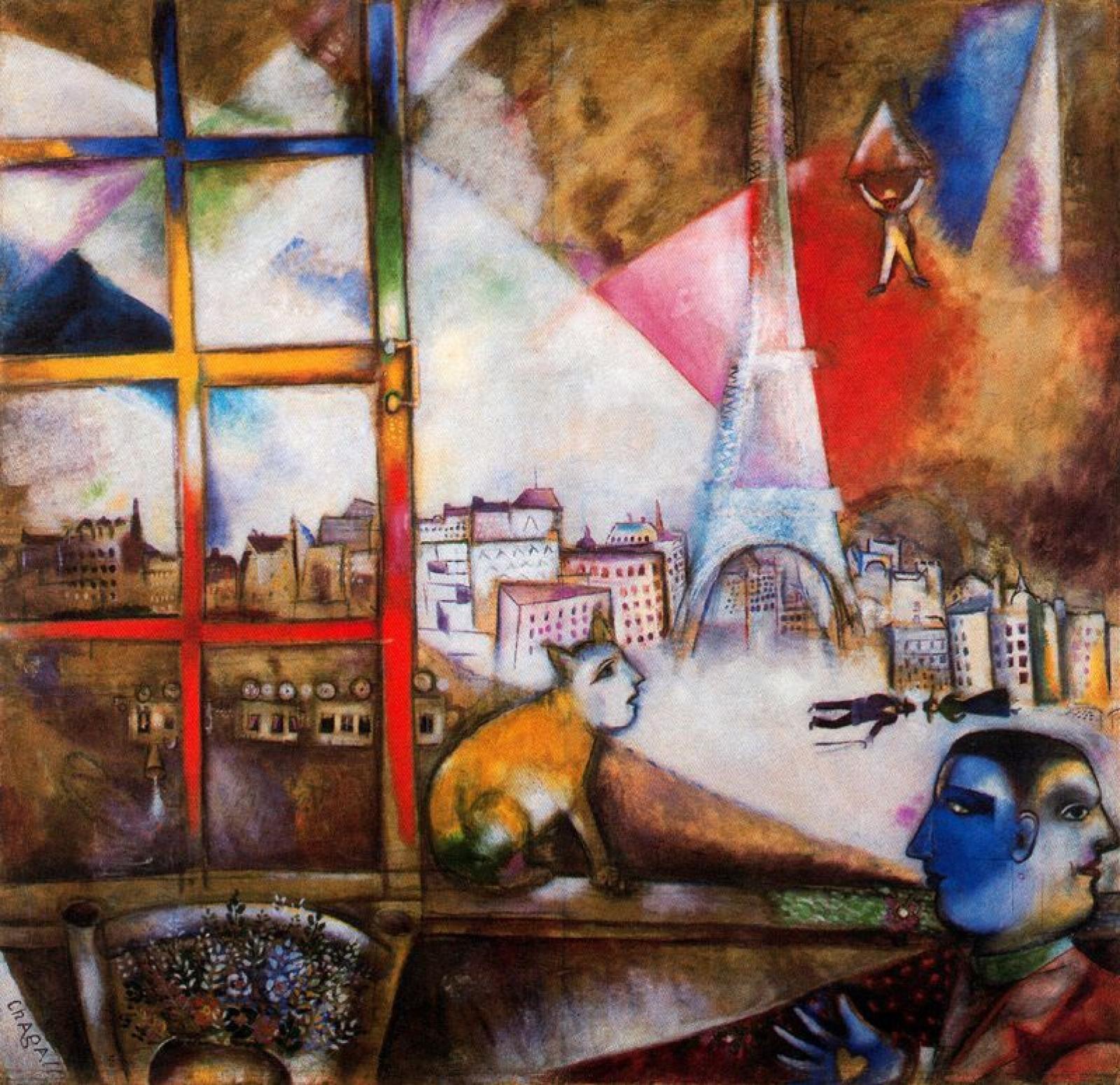 Marc Chagall. Paris through the window