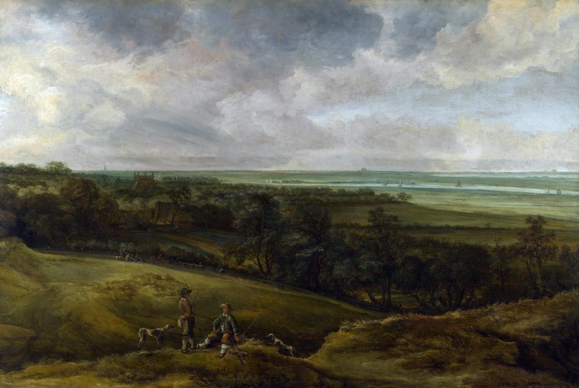 Ван дер Счалкк Корнелис. Обширный пейзаж реки