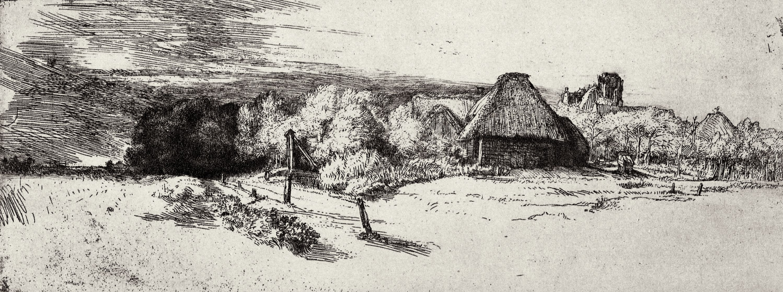 Рембрандт Харменс ван Рейн. Пейзаж с башней