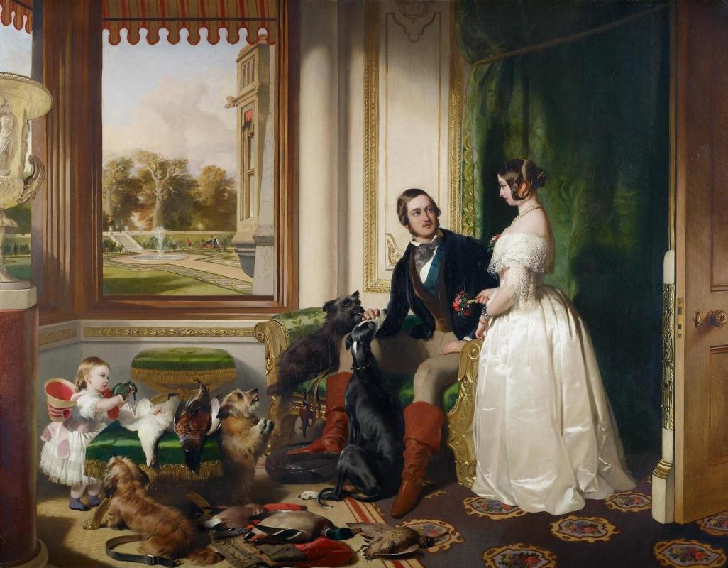 Эдвин Генри Ландсир. Виндзорский замок в наши дни. Королева Виктория, принц Альберт и Виктория, королевская принцесса