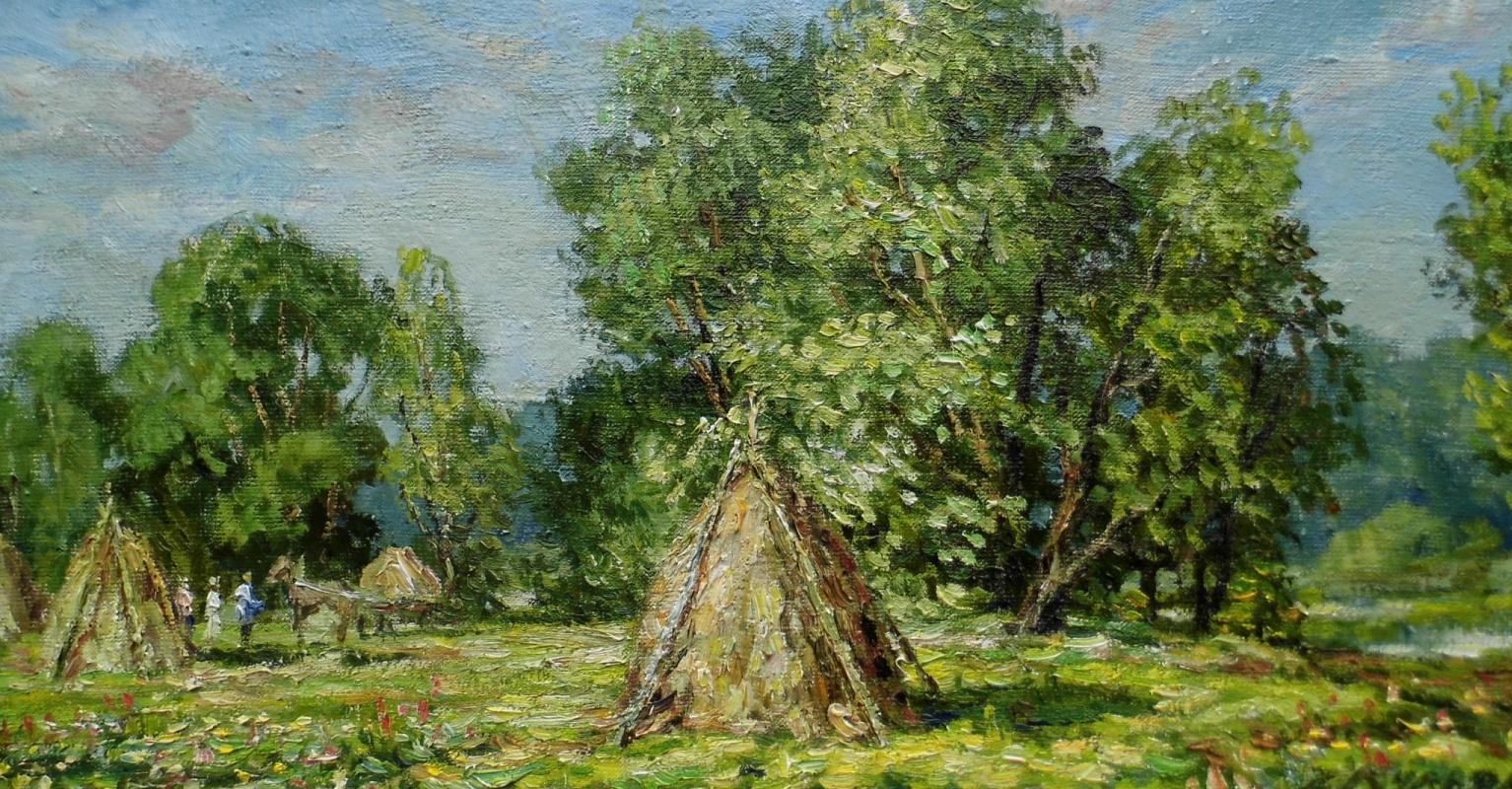 Victor Vladimirovich Kuryanov. Hocks in the meadow