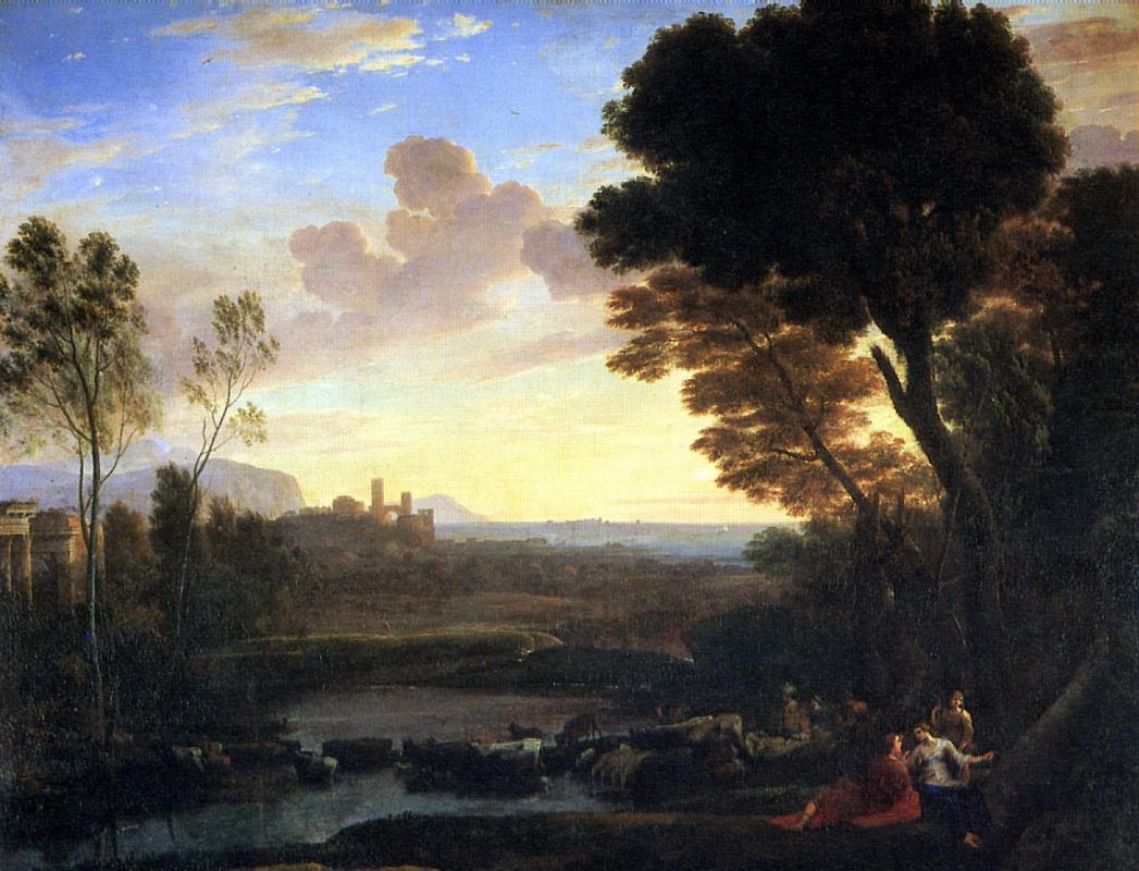 Клод Лоррен. Пейзаж с Парисом и Эноной