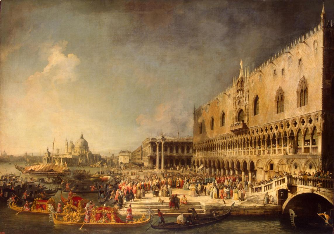 Джованни Антонио Каналь (Каналетто). Приём французского посла во Двореце Дожей в Венеции