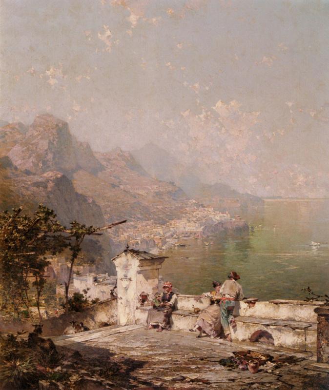 Franz Richard Unterberger. Gulf of Salerno