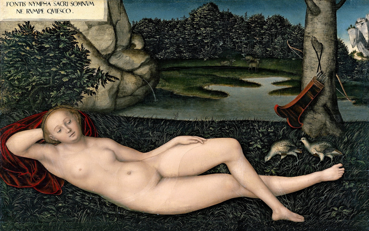 Lucas Cranach the Elder. Water nymph
