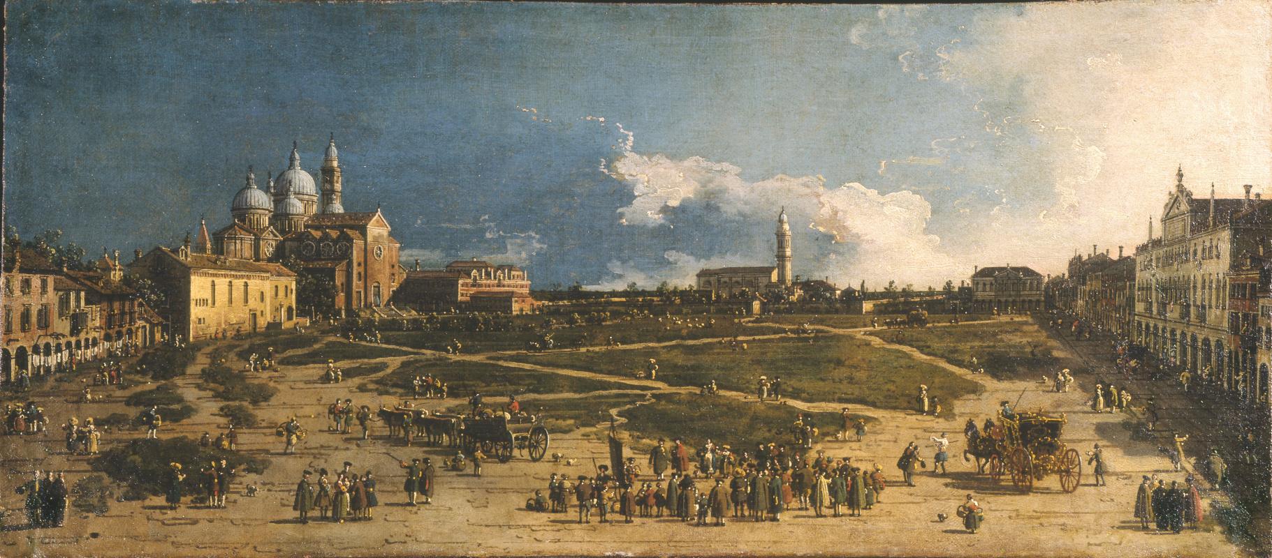 Giovanni Antonio Canal (Canaletto). Prato della Valle Square in Padua