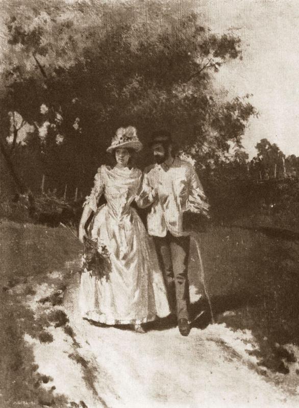 Алексей Степанович Степанов (1858-1923). И. И. Левитан и С. П. Кувшинникова. 1887