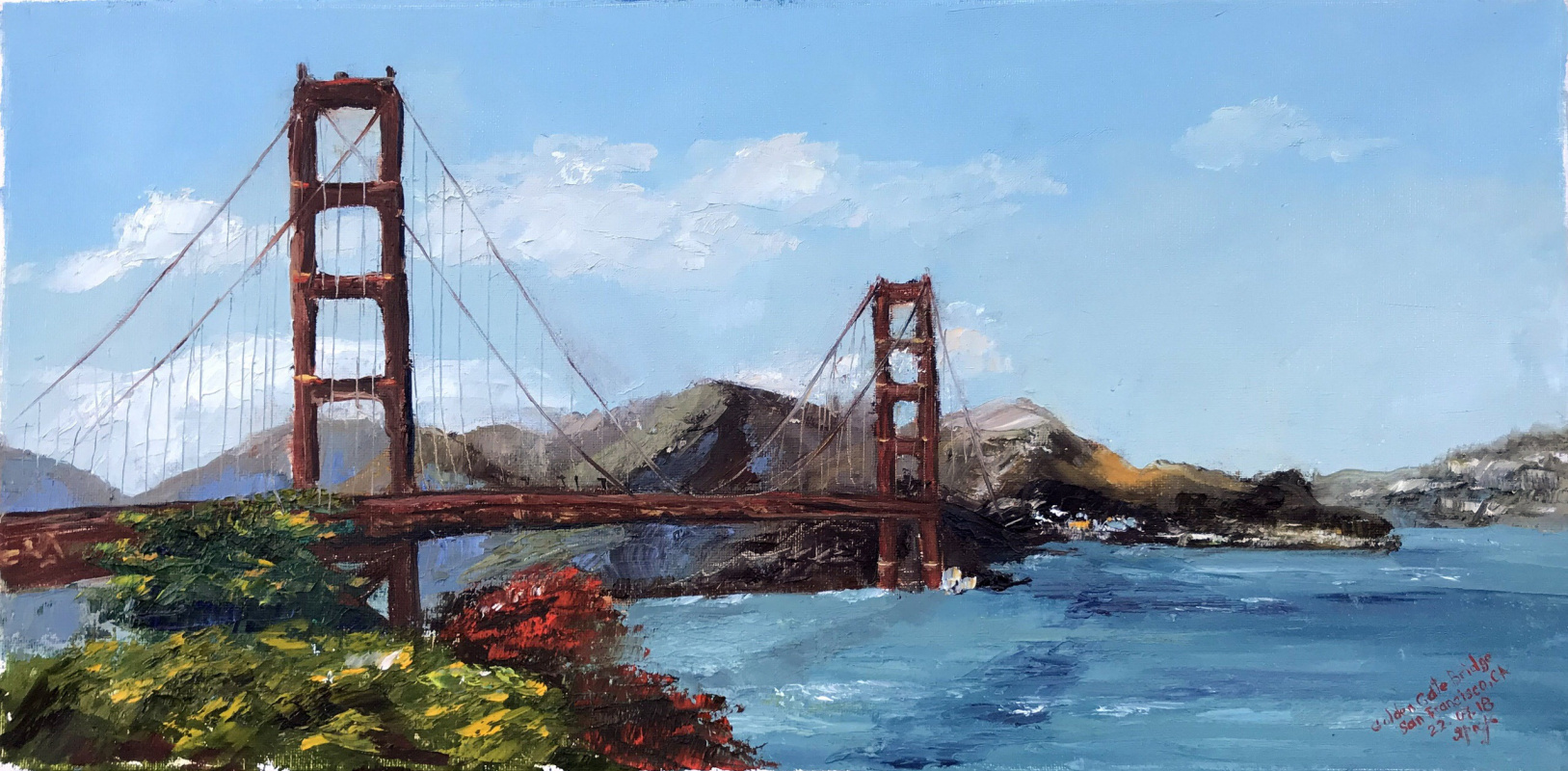 Olga Leonidovna Yaroslavtseva. Golden Gate Bridge, California