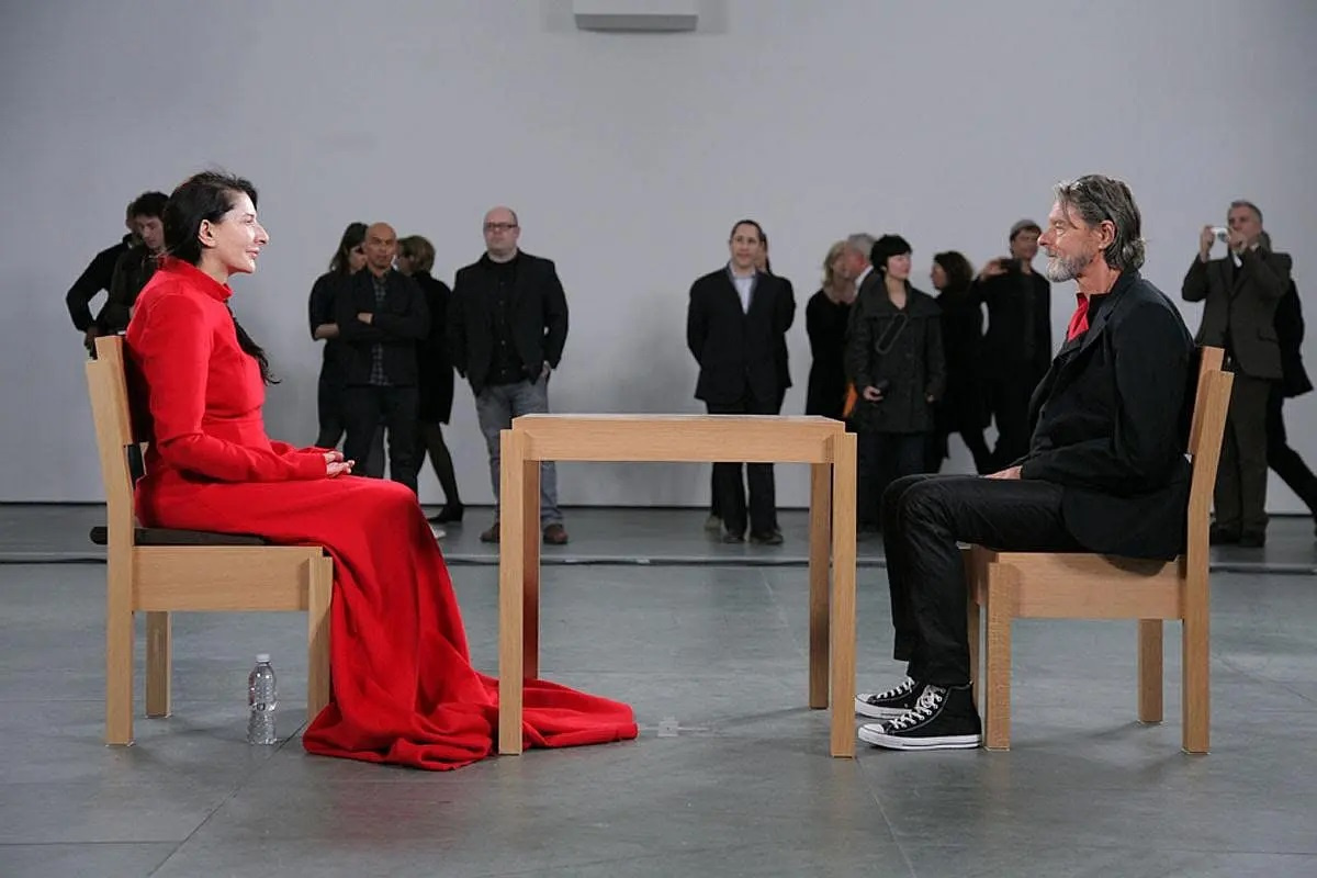 Marina Abramovich. Artist's presence