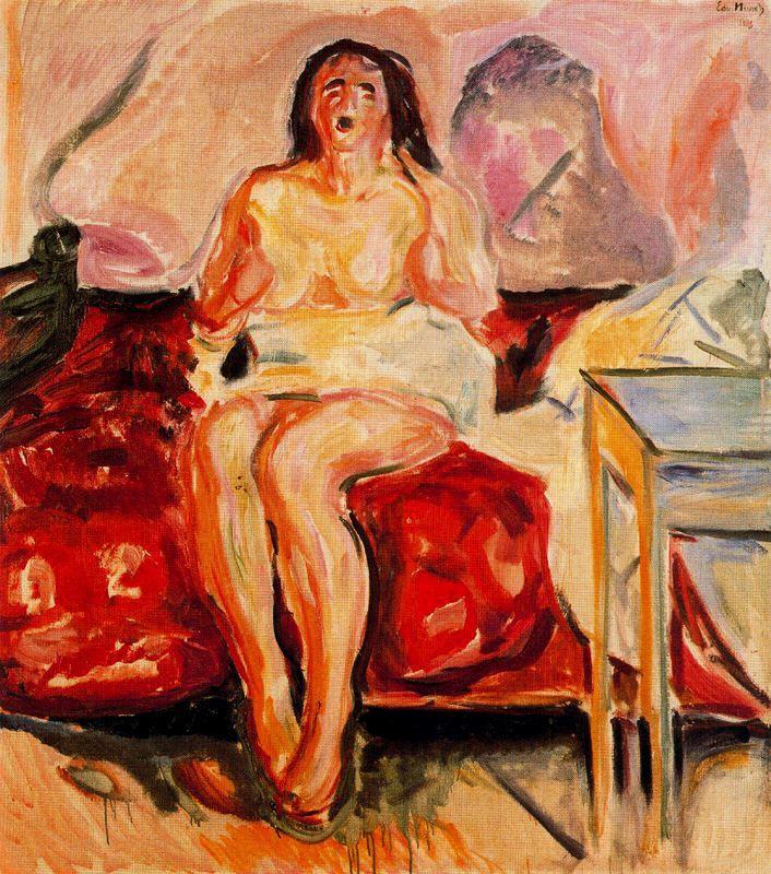 Edvard Munch. Yawning girl