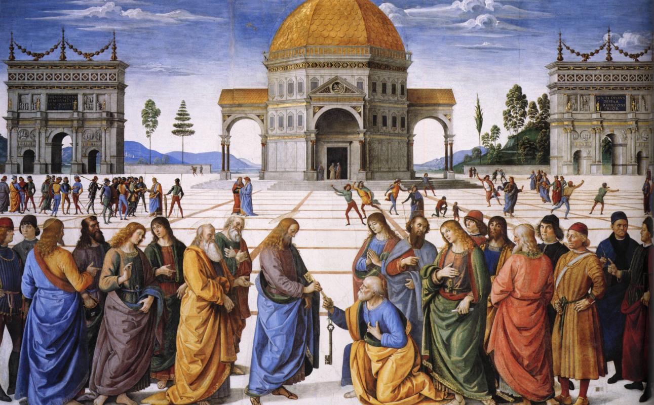 Пьетро Перуджино. Вручение ключей апостолу Петру