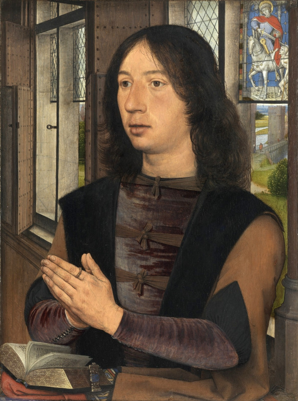 Hans Memling. Diptych The Virgin and Child and Donor Martin Niuvenhove. Right panel