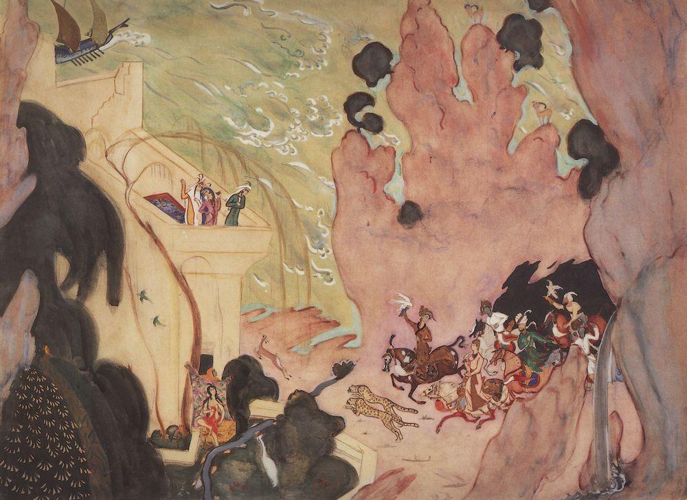 "Valentin Serov. Sketch of curtain for the ballet ""Scheherazade"" by N. Rimsky-Korsakov"