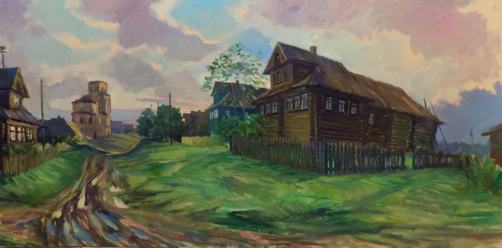 Vera Ivanovna Filippova. Amid the abandoned homes... the village of Nikolskoye Belsedere. K., M., 62х123, 2015