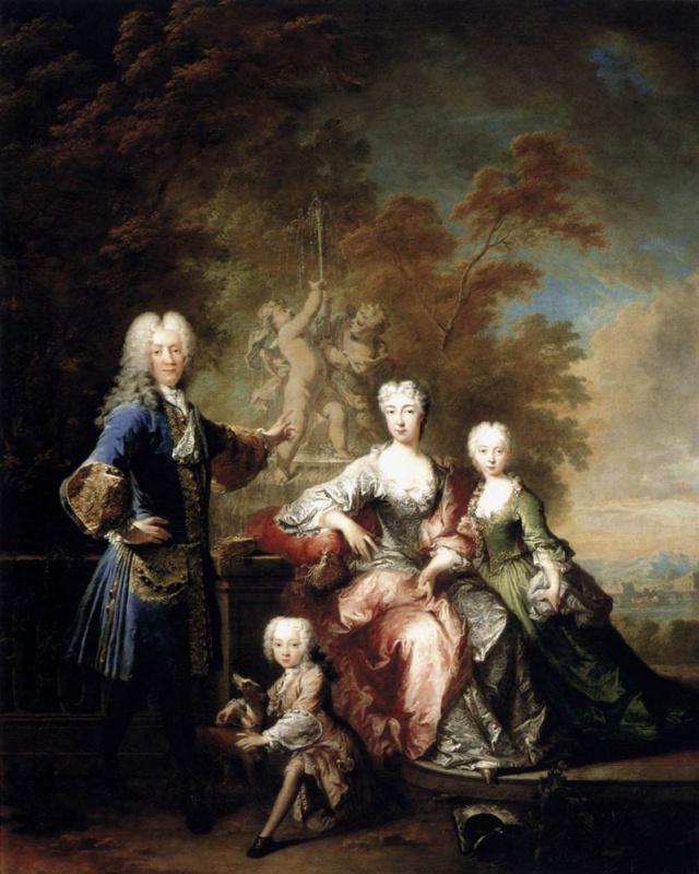 Никола Турнье. Граф Фердинанд Адольф фон Плеттенберг и его семья