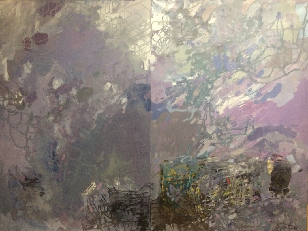 Polina Evgenevna Zaremba. Diptych Immersion 120x80 and 120x80 oil on canvas 2020