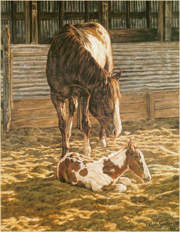 Жоэль Смит. Лошадь с жеребенком