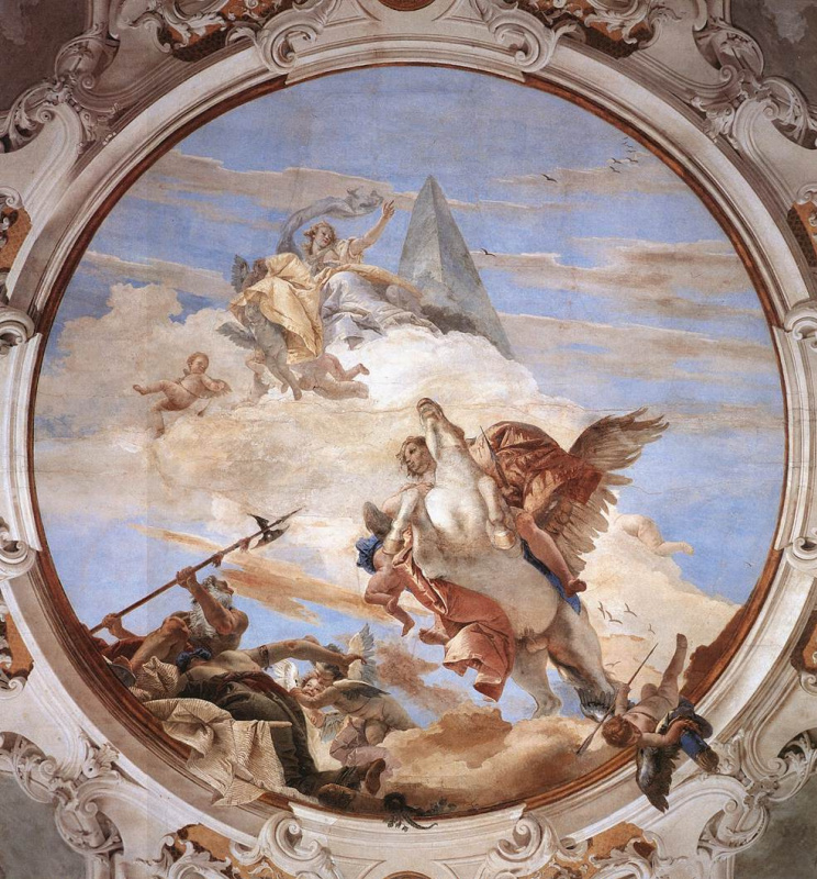 Giovanni Battista Tiepolo. Bellerophon in Pegasus