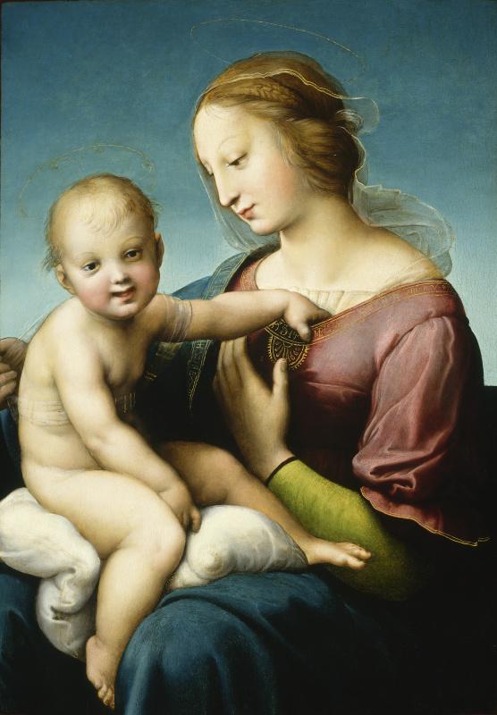 Raphael Sanzio. Large Cowper Madonna