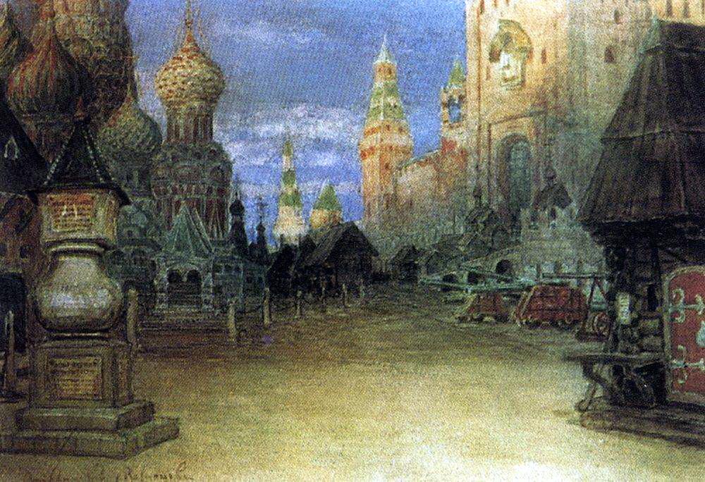 Аполлинарий Михайлович Васнецов. Красная площадь