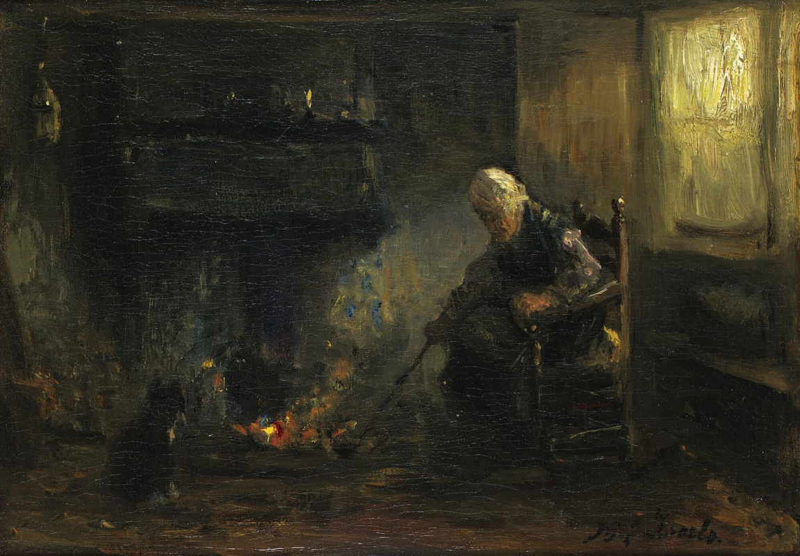 Joseph Israel. By the hearth