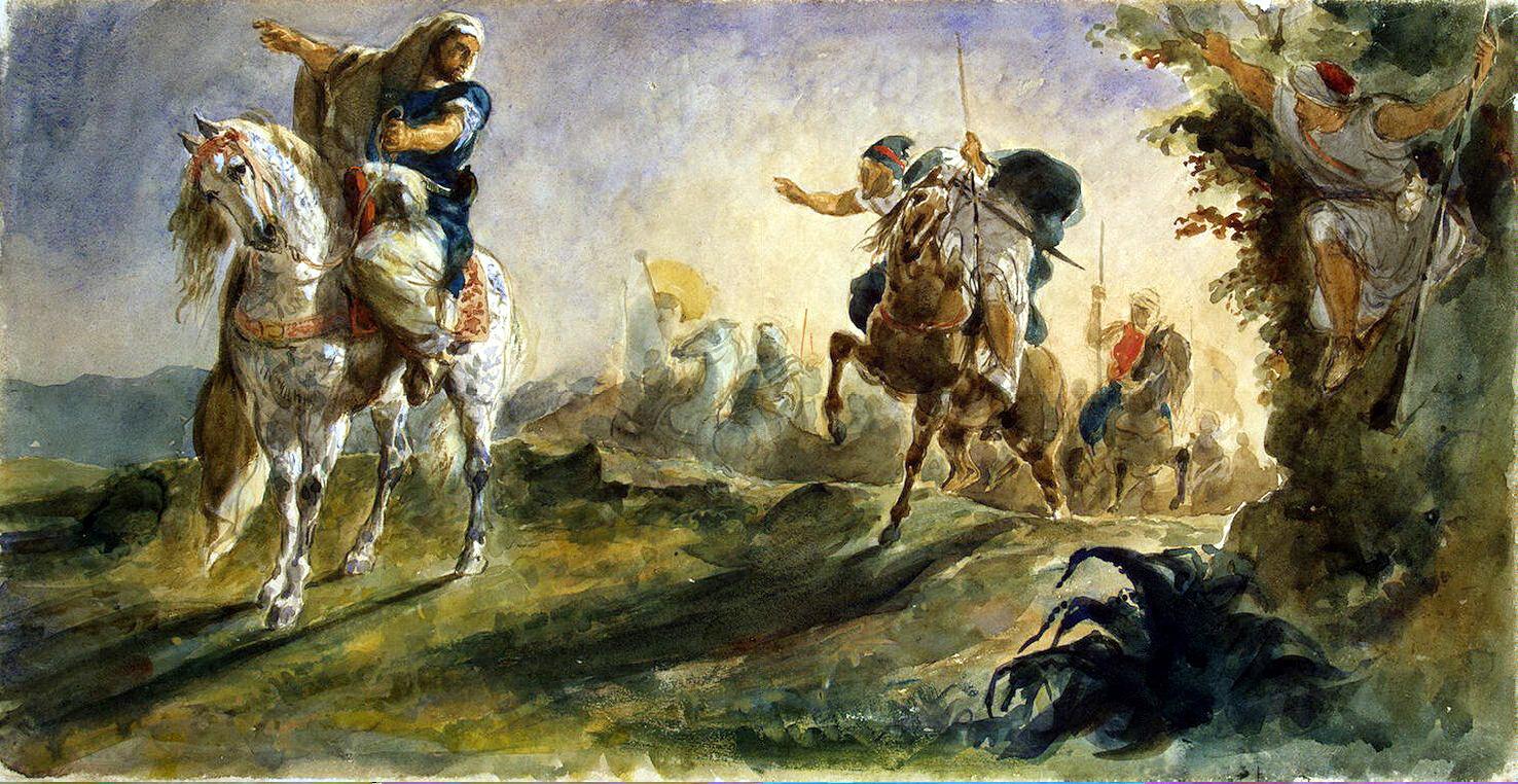 эжен делакруа арабские всадники