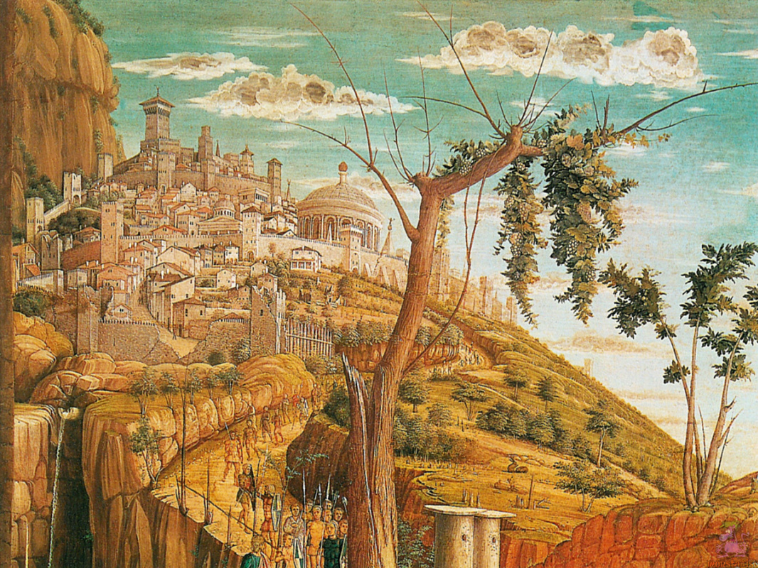 Andrea Mantegna. Christ on the mount of olives