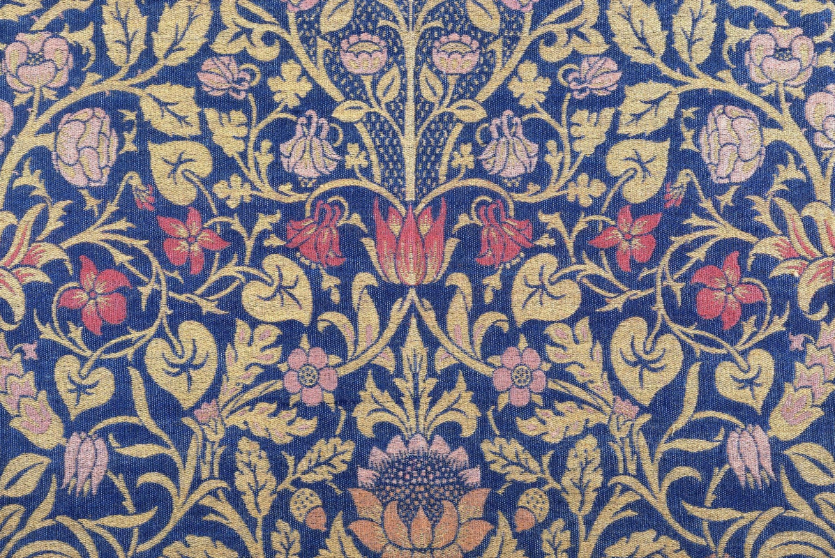 William Morris. Violetta and Colombina. Violet design for furniture