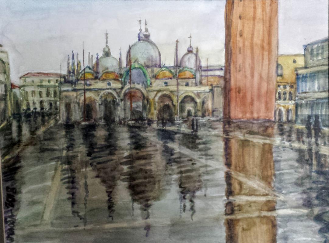 Olga Ogloblina. Venice. Rain