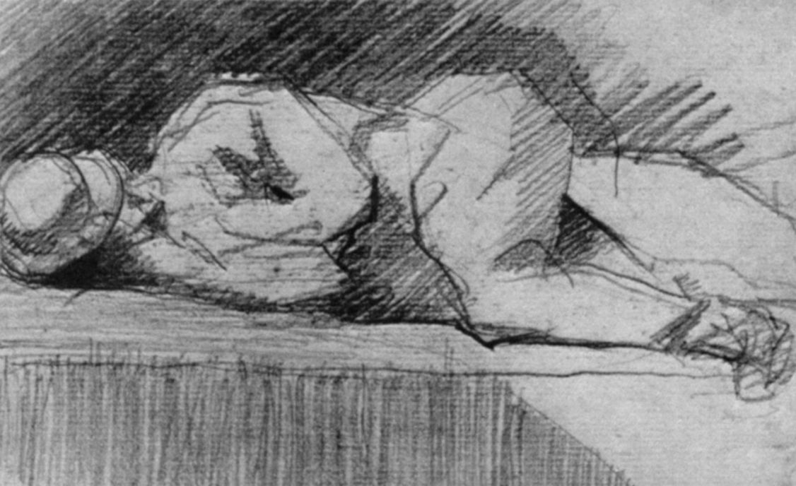 Жорж Сёра. Лежащий на парапете
