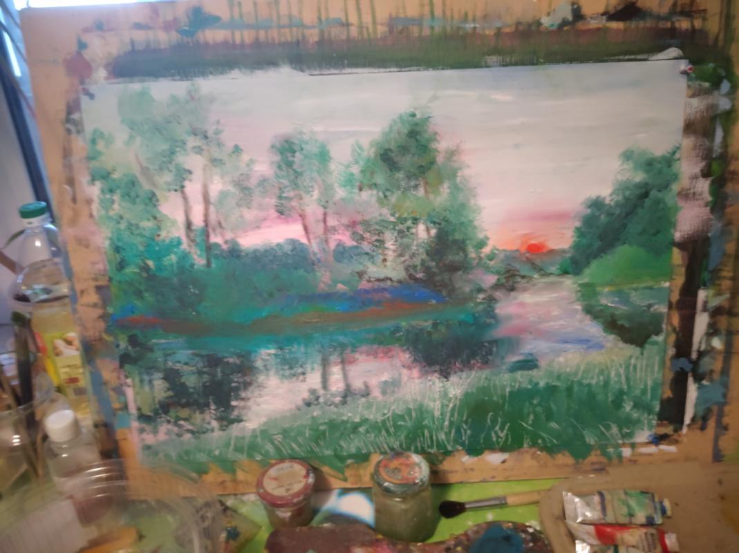 Igor Gennadievich Lysov. Oil painting landscape