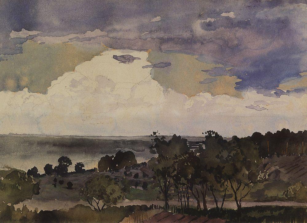 Константин Андреевич Сомов. Пейзаж с озером