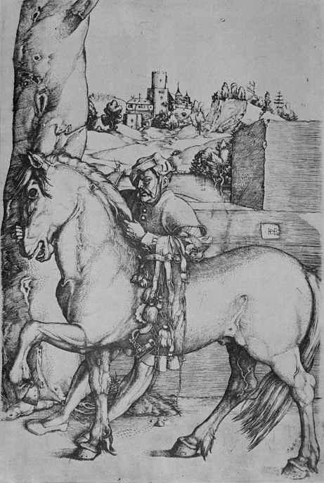 Ханс Бальдунг. Конюх с конем